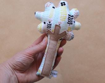 Tree Baby Rattle, Made in Australia, Baby Shower, baby gift, plushie, soft toy, newborn, nursery