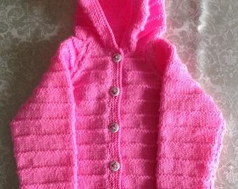 Babies Pink Pink Hooded Jacket