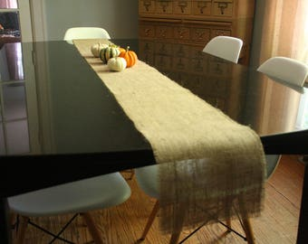 Rustic Narrow Burlap Table runner or Mantle runner