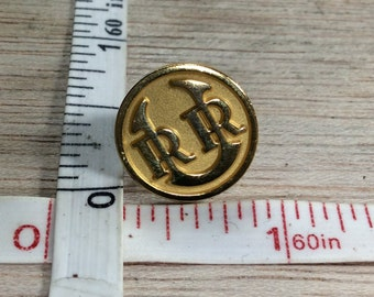 Vintage Gold Toned Union Pacific Railroad Tie Tack Used
