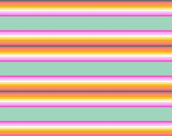 Tula Pink Chipper Fabric - Tick Tock Stripe in Sorbet - PWTP082.SORBE