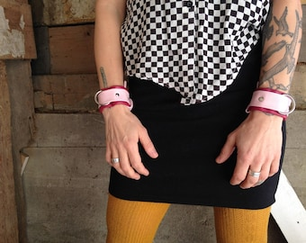 Leather Cuffs for Wrist or Ankle