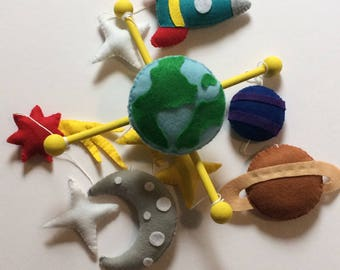 Baby mobile space, Space mobile, Space baby mobile, Planets mobile,Solar system mobile