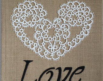 Burlap and embroidery frame