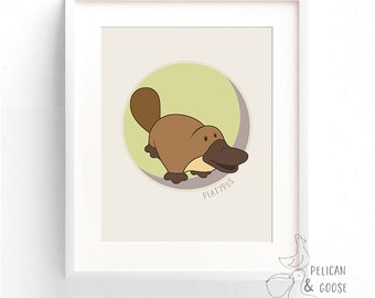 Australian Animals Art Print- Platypus