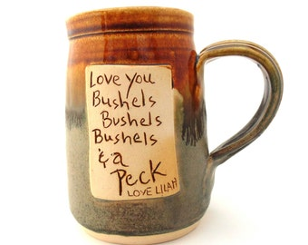 Make Your Own Saying mug  custom  Handmade Personalized Pottery Mug  ceramics and pottery  Jewel Pottery choose your own color