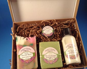 White Tea & Ginger Soap and Lotion Gift Set