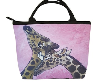 Giraffes Small Purse, Small Handbag  - by Salvador Kitti -From my Original Oil Painting, Comfort