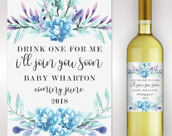 Best Friends Get Promoted - Baby Reveal Gift - Pregnancy Announcement - Custom Wine Label - Birth Announcement - Reveal To Husband