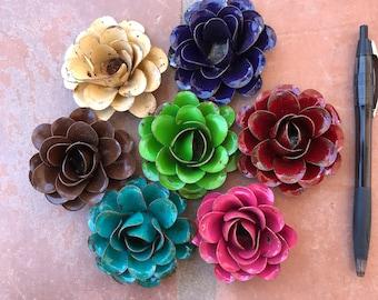 9 Metal Rustic Roses Vintage Flowers