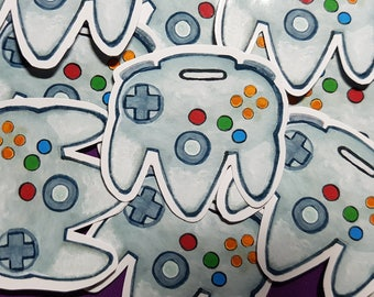N64 controller inspired sticker
