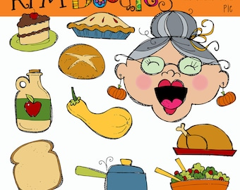 KPM Old Lady who swallowed a Pie Clip art COMBO