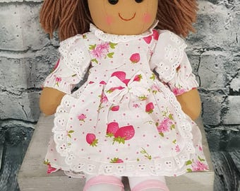 Personalised Rag Doll / Handmade Doll / Baby Doll / Soft Dolls / Doll Bear / Doll for Baby Girls / Doll for Gift / Fabric Doll/easter gift