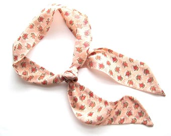Floral Scarf, Skinny Scarf, Purse Scarf, Ankle Scarf, Hair Wrap, Hair Scarf, Neck Scarf, Twilly, Bun Scarf, Under 20 Dollars, Ready to Ship