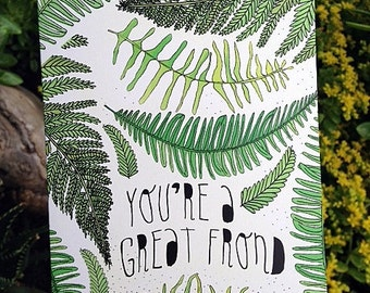 Illustrated Card - Friendship Card - Punny Card - Blank Card