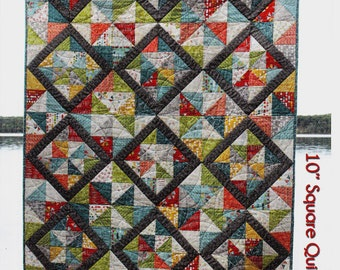 "VALERIE Quilt Pattern     Layer Cake (10"" Square) Friendly   Advanced Beginner Pattern    By: A Slice of π quilts"