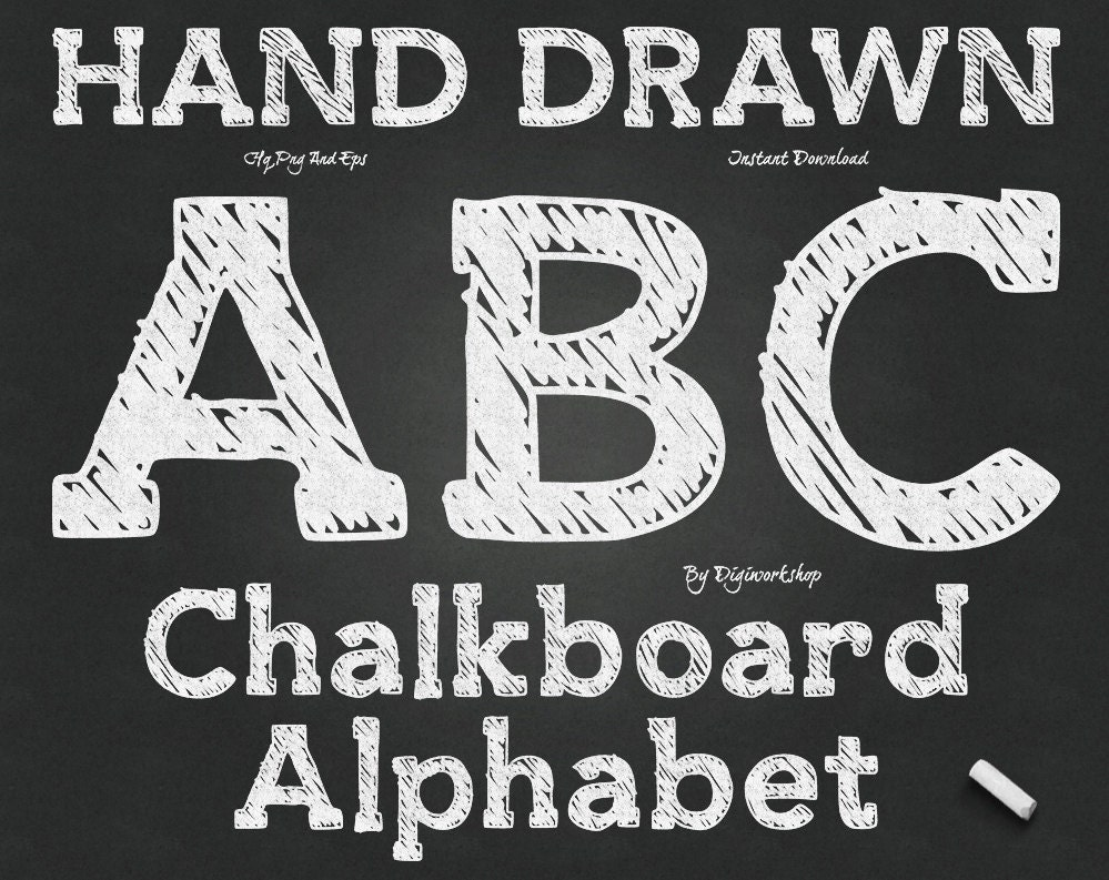 chalkboard alphabet clip art   u0026quot chalk alphabet u0026quot  digital