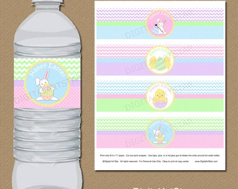 Easter Water Bottle Labels, Easter Decorations, Easter Party Favors, Easter Ideas, Party Printables, Drink Labels, Water Bottle Stickers