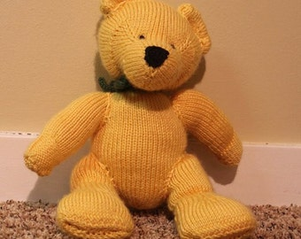 Custom Knit Bear For Charity