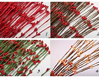 Branches branch on a wire with kidneys different colors 40 cm (400 mm)