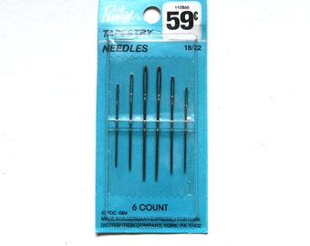 Supplies - Prestige Tapestry Needles, size 18/22, 6 count