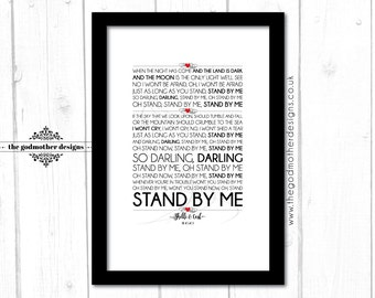 Wedding/Anniversary Personalised - First Dance Song - Typography- Lyrics - PRINT