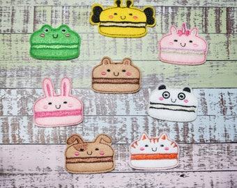 Macaron Animal Felties | Macaron Cookie | French Macaron | Cookie Felties | Animal Felties | Hair Bow Supplies | Planner Clips | Felties |
