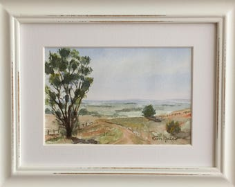Beautiful Goodwood, England, Framed Original Watercolour Painting