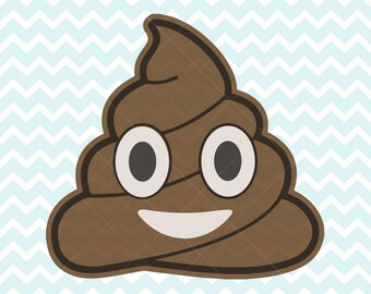 Poop Emoji SVG and PNG, Poop, Poop Emoji Clipart, Poop SVG, Commercial Use svg, Printable Poop Emoji