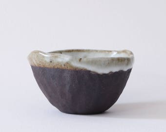 Ice Cream Bowl: Brown Swirl (Small)