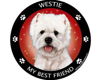 West Highland Terrier Westie My Best Friend Dog Magnet