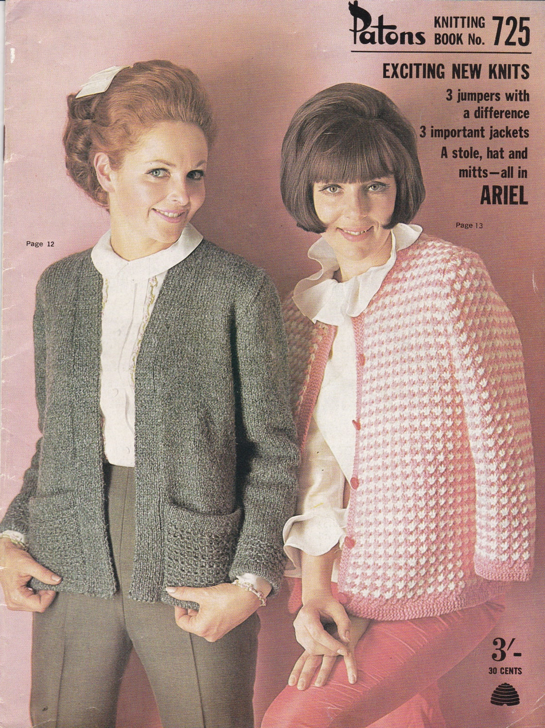 Vintage 1960s - Paton\'s Knitting Pattern No 725 Exciting New Knits ...