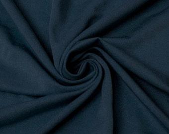 Dark Teal B Medium Weight Rayon Spandex Jersey Knit Fabric by the Yard - 1 Yard Style 409