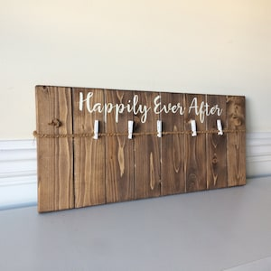 Happily Ever After Sign- Wedding Frame Personalized- Wedding Gift Personalized- Wedding Picture Frame- Wedding Wall Decor- Marriage Gifts