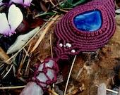 Lapis Lazuli Macrame Neck...