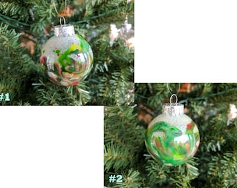 Hand Crafted Christmas Ornament (Green and Red)