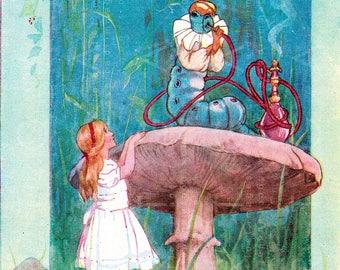Alice In Wonderland Vintage Image. Alice Antique Illustration. Alice in Wonderland Digital Download.