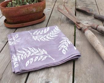 lilac gray wheat floursack towel