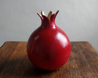 Ceramic Pomegranate Bud Vase