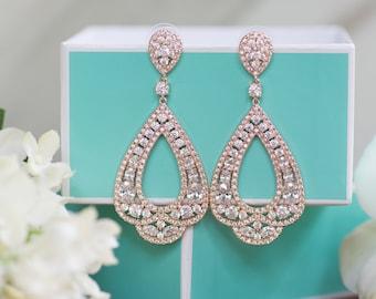 Chandelier Earrings | Long Bridal Earrings | Bridesmaid Jewelry | Wedding Jewelry | Bridal Earrings | Dangle Earring | Chandelier Earrings