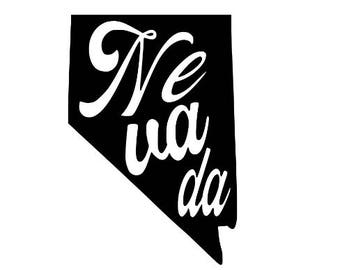 Nevada Home State Vinyl Car Decal Bumper Window Sticker Any Color Multiple Sizes Jenuine Crafts