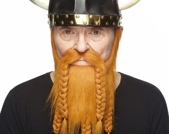 Viking ginger beard and mustache (061-LB)