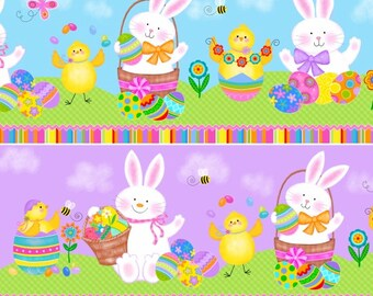 Spring Has Sprung Bunny Play Fabric by Studio E