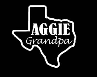 Aggie grandpa/grandma decal