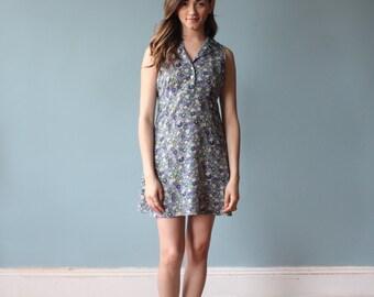 SALE spring dress / floral 90s sleeveless dress / 1990s / small - medium