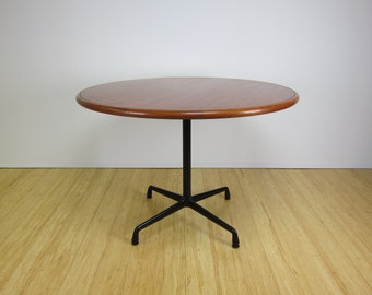 Eames Herman Miller Aluminum Group Walnut Table