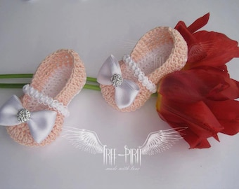 Crochet baby ballerina shoes * Baby booties * Baby shoes * Newborn booties *Baby slippers * HOT SALE!!! 20% OFF!!!