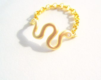 Thin serpent ring Etsy