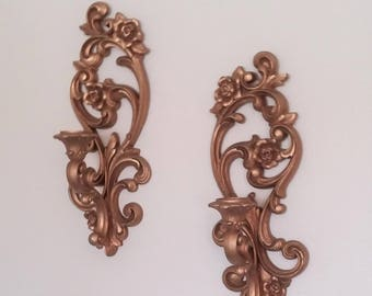 Vintage Homco Wall Sconces, Homco No 4118 Wall Sconces, Vintage Wall Sconces,  Pair