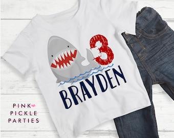 Shark Birthday Shirt, Shark Iron On, Shark Shirt for Kids, Shark Shirt Boys, Birthday Shark Shirt, Shark Birthday, Shark Party | 563